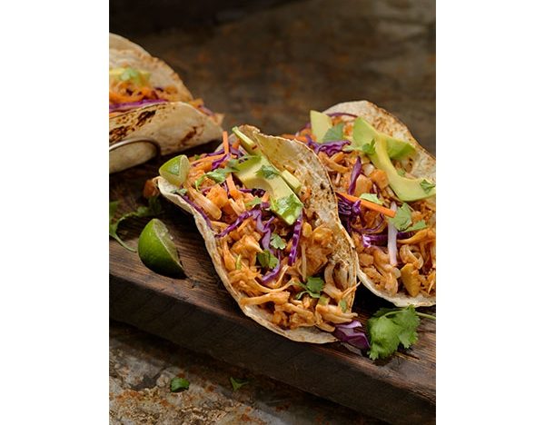 jackfruit taco close up